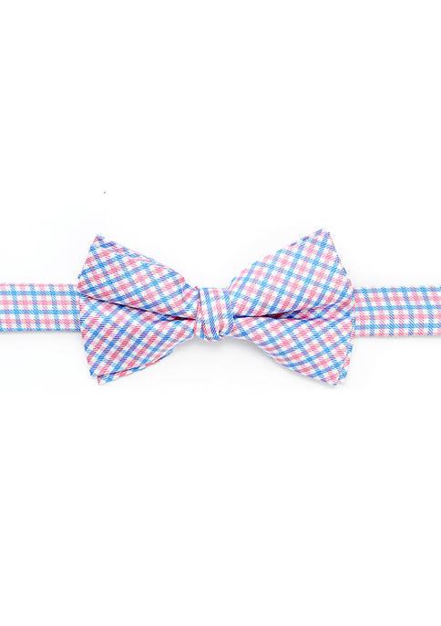 Boys 8-20 Micro Check Bow Tie