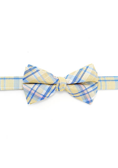 Boys 8-20 Madras Plaid Bow Tie