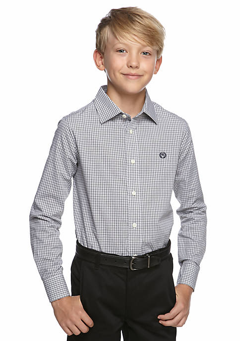 Micro Plaid Woven Shirt Boys 8-20