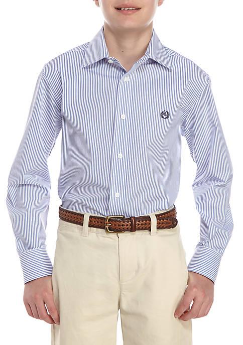 Lauren Ralph Lauren Striped Button Front Dress Shirt