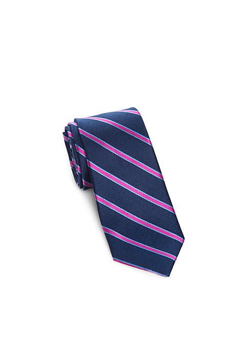 Lauren Ralph Lauren Side Stripe Print Tie