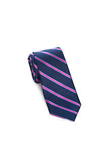 Side Stripe Print Tie