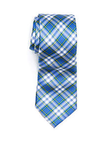 Boys 4-20 Navy Tartan Tie