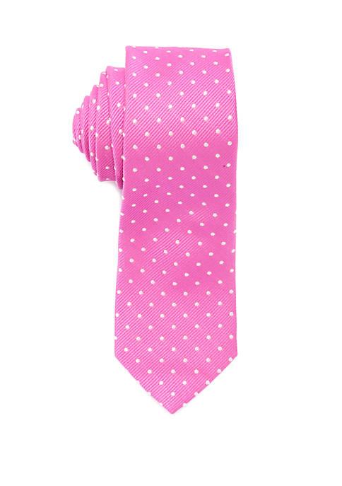Lauren Ralph Lauren Boys 4-20 White Dot Tie