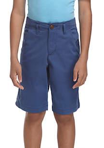Boys 8-20 Stretch Twill Boydon Blue Shorts