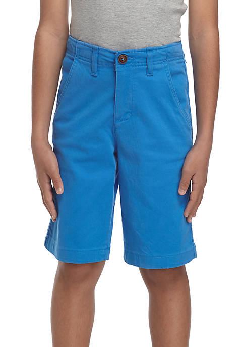 Stretch Twill Flat Front Shorts Boys 8-20