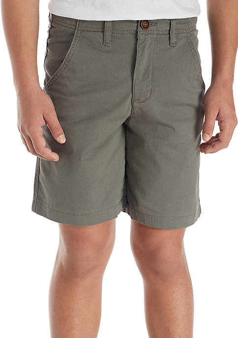 TRUE CRAFT Stretch Twill Flat Front Shorts Boys
