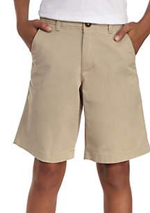 TRUE CRAFT Stretch Twill Flat Front Shorts Boys 8-20 Husky