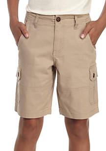 Stretch Twill Cargo Shorts Boys 8-20