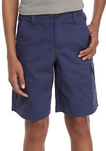 TRUE CRAFT Stretch Twill Cargo Shorts Boys 8-20