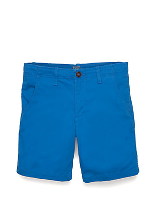 3bf1fb171 TRUE CRAFT. TRUE CRAFT Boys 8-20 Husky Relaxed Stretch Twill Flat Front  Jersey Blue Shorts