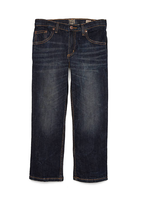 TRUE CRAFT Boys 4-8 Straight Leg Denim Jeans