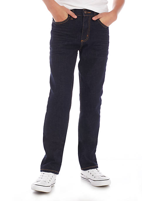 Boys 8-20 Stretch Denim Straight Leg Slim Fit Jeans