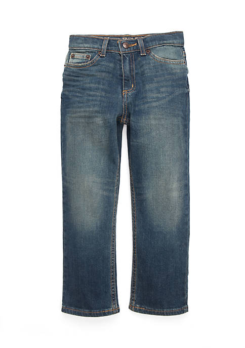 TRUE CRAFT Boys 4-8 Straight Denim Wheely Jeans