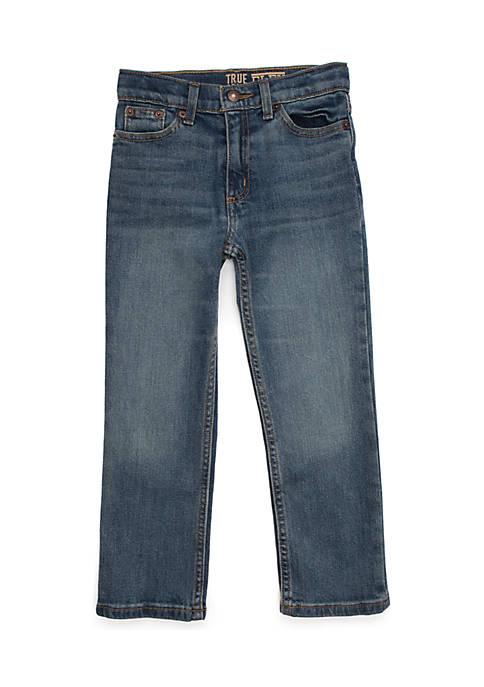 TRUE CRAFT Boys 4-8 5-Pocket Straight Denim Jeans