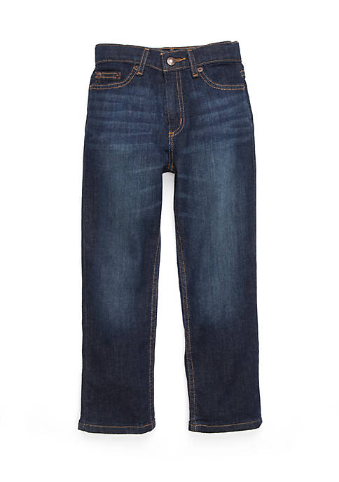 Boys 4-8 Straight Dark Denim Jeans