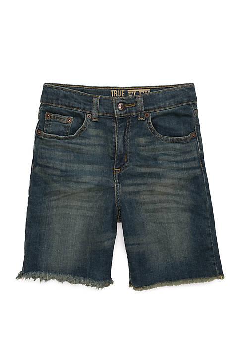 TRUE CRAFT Boys 4-8 Raw Edge Denim Shorts
