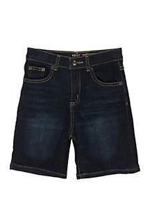 TRUE CRAFT Boys 4-8 Dark Wash Denim Shorts