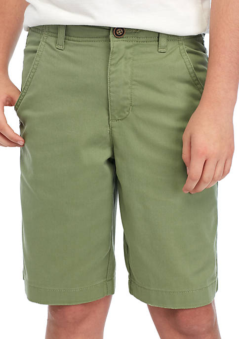 TRUE CRAFT Boys 8-20 Flat Front Twill Giver