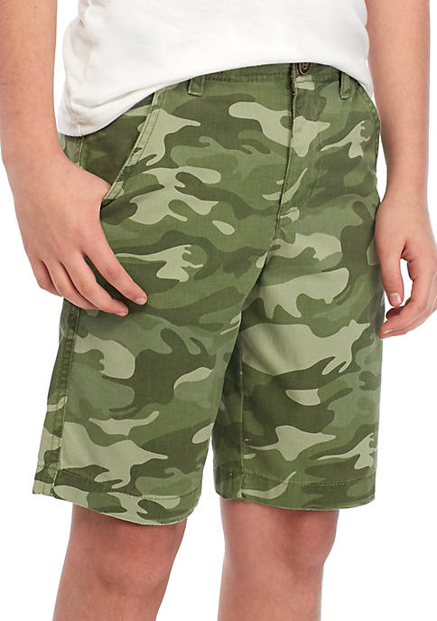 True Craft Boys 8 20 Flat Front Twill Camo Shorts Belk