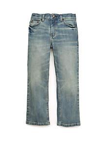 TRUE CRAFT Boys 4-7 Light Wash Fashion Denim Jeans