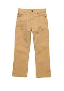 TRUE CRAFT Boys 4-7 5 Pocket Twill Straight Pants