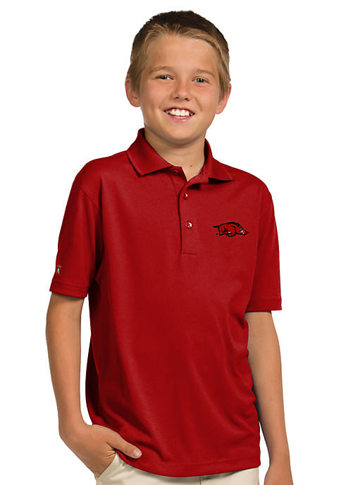 Antigua® Arkansas Razorbacks Pique Xtra Lite Polo Boys