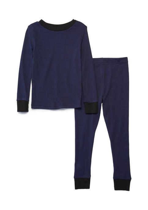 Boys 4-20 2 Piece Solid Pajamas