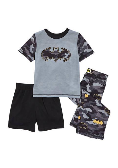 Boys 8-20 Short Sleeve Batman Pajama Set