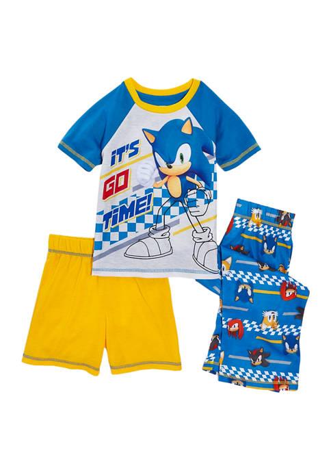 Komar Kids Boys 8-20 Sonic 3-Piece Pajama Set