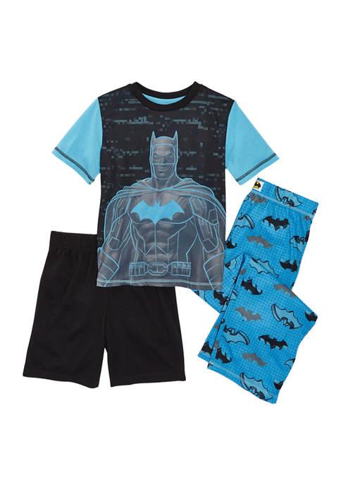 Batman™ Boys 8-20 Batman 3-Piece Pajama Set