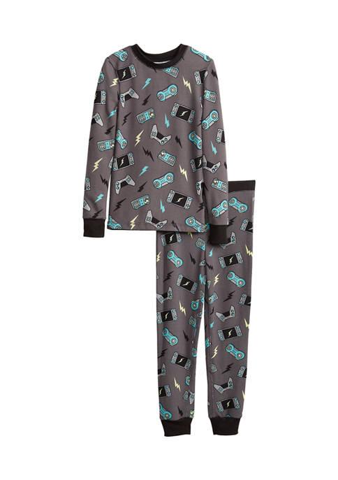 Boys 4-7 Gaming Allover Print Hacci Pajama Set