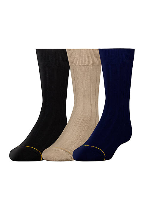 Gold Toe® Boys 8-20 3 Pack Dress Sock