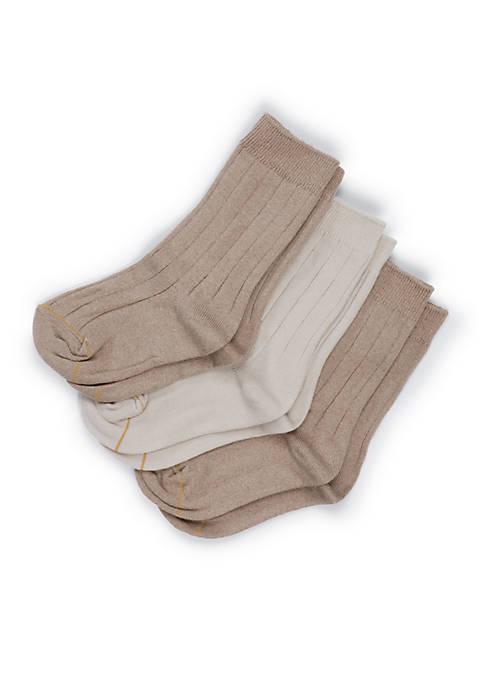 Boys 8-20 3-Pack Wide Rib Dress Crew Socks