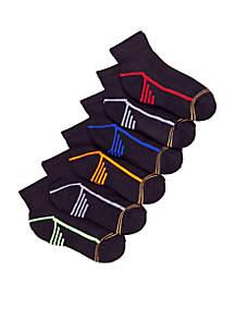 6-Pack Sport Quarter Socks Boys 4-20