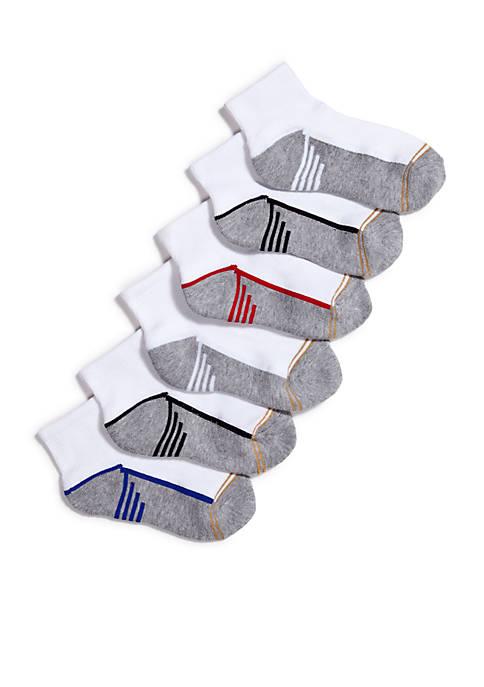Gold Toe® 6-Pack Sport Quarter Socks Boys 4-20