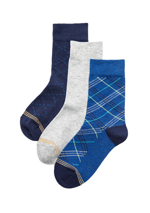 Gold Toe® Boys Set of 3 Crew Socks