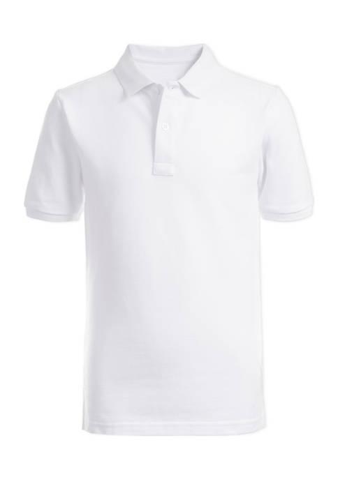 Chaps Boys 8-20 Short Sleeve Double Piqué Polo