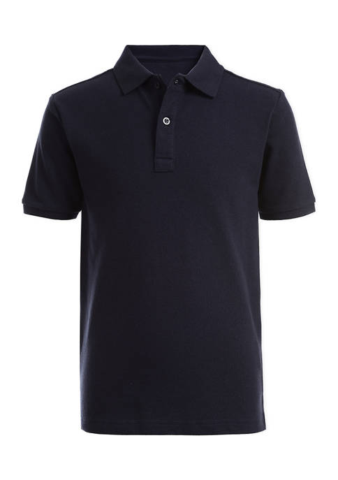 Boys 8-20 Short Sleeve Double Piqué Polo