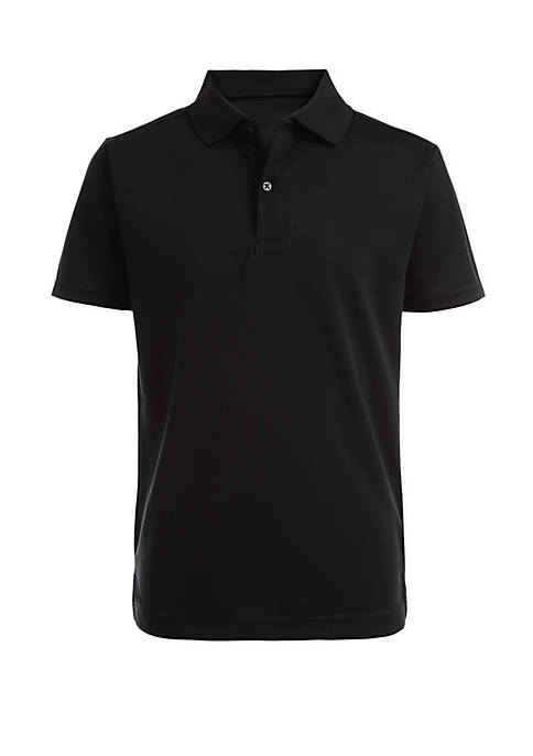Nautica Boys 8-20 Husky Perforated Polo Shirt
