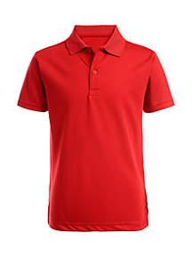 Nautica Boys 8-20 Husky Perforated Polo Shirt