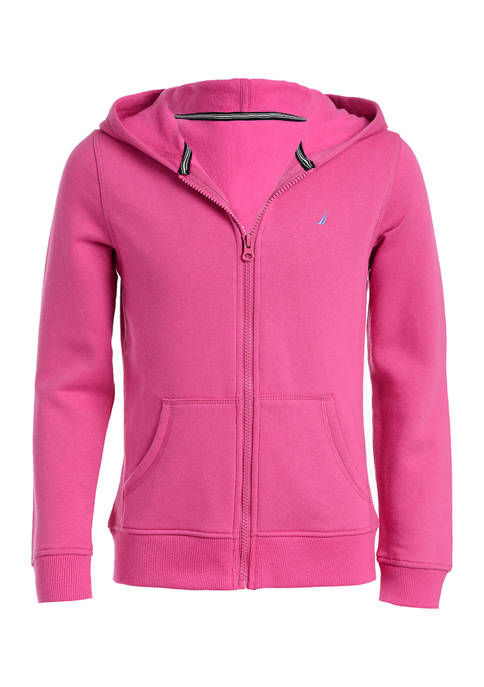 Nautica Girls 4-6x Full Zip Fleece Hoodie