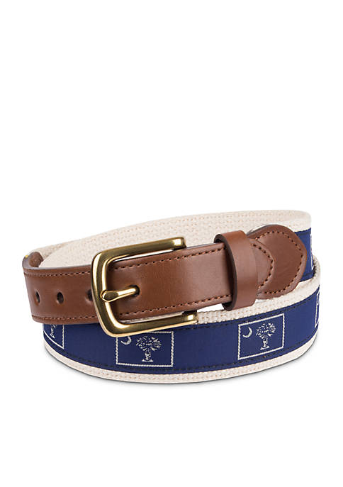 Crown & Ivy™ Boys 4-20 Palmetto Print Belt