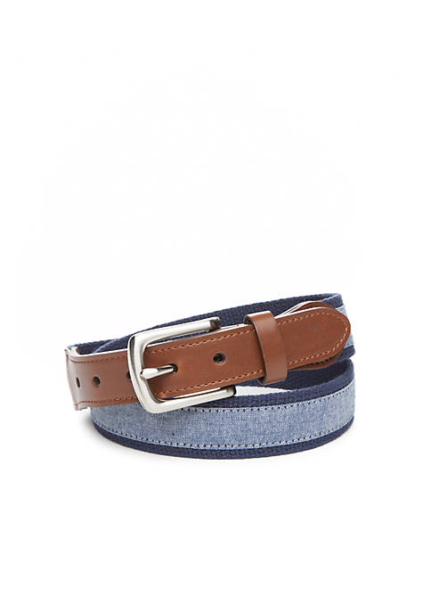 Crown & Ivy™ Chambray Overlay Belt