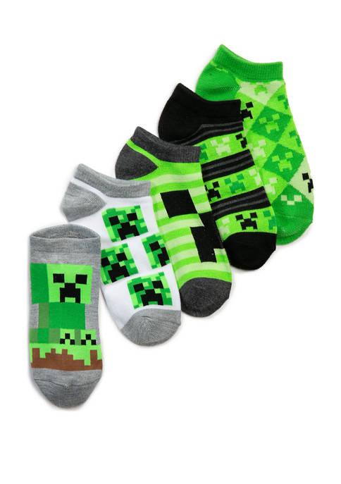 Boys 4-8 5 Pack Ankle Socks