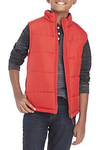 Boys 8-20 Solid Puffer Vest