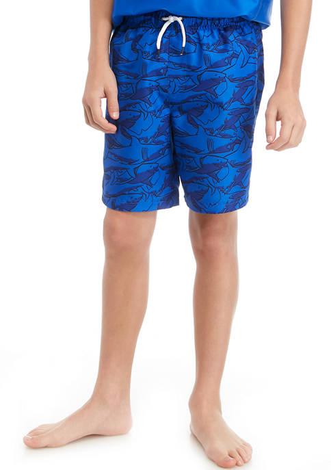 ZELOS Boys 8-20 Stripe Swim Trunks