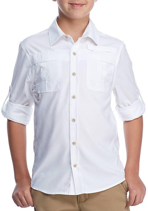 Cheap J. Khaki Fishing Shirt Boys 8-20 for cheap