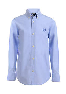 End on End Woven Button-Front Shirt Boys 4-7