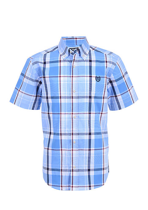 Chaps Boys 4-7 Short Sleeve Woven Top
